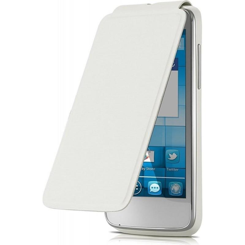 Alcatel Flip Cover originale One Touch per OT M POP, Bianco