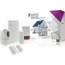 König, Antifurto - Set Intelligente per la Sicurezza Domestica, Wi-Fi 868 Mhz (SAS-CLALARM10), Bianco