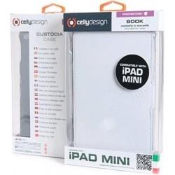 Celly Custodia a Libro per iPad Mini, Bianco