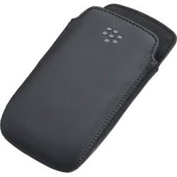 Custodia a Fondina in Pelle per Blackberry Curve 9350/9360/9370, Nero