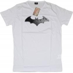 Maglietta T-Shirt Batman Arkham City con logo Digital24 in cotone - Bianco, L