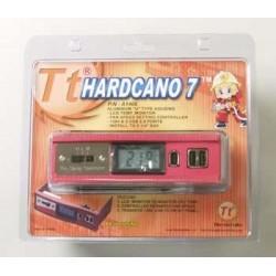 Thermaltake Hardcano 7 - Supporto per HDD con ventole e sensore temperatura + 2 USB 2.0 + FireWire - Rosso