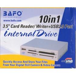 Card Reader 10in1 interno Bafo, USB 2.0 - Avorio