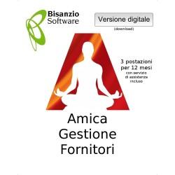 Amica - Gestione Fornitori (3 postazaioni - 12 mesi - ESD - Versione digitale)