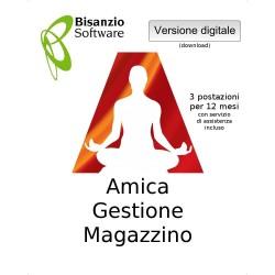 Amica - Gestione Magazzino (3 postazaioni - 12 mesi - ESD - Versione digitale)