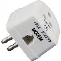 Filtro ADSL spina tripolare - Bianco