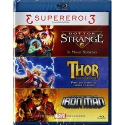 Tris Supereroi - Doctor Strange / Thor / Iron Man - Blu-Ray