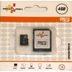 Micro SD HC 4 GB + adattatore SD - Max-Flash