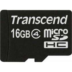 Micro SD HC Class 4 16 GB (TS16GUSDC4) + adattatore SD - Transcend