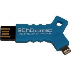Echo Connect - Key Lightning, certificato MFI - Cavo dati e alimentazione per iPhone, iPad, iPod - Azzurro