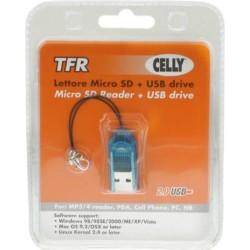 Mini Lettore di Memoria Micro SD Celly - Arancione