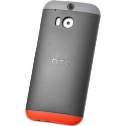 Custodia Rigida HTC per One M8, Grigio/rosso + clip azzurra