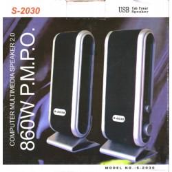Casse 2.0 USB autoalimentate 860W PMPO - Nero/Grigio