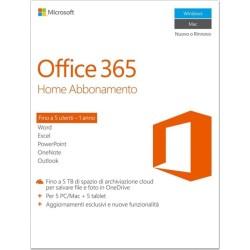 Microsoft Office 365 Home [5 PC / 1 anno] (Versione 2016) Digitale ESD