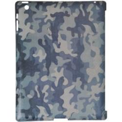 Custodia True-Carbon in Vero Carbonio Vintage per Apple iPad 2 - Grey Military