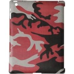 Custodia True-Carbon in Vero Carbonio Vintage per Apple iPad 2 - Rosso mimetico Militare