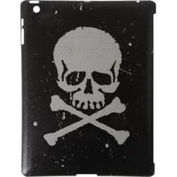 Custodia True-Carbon in Vero Carbonio Vintage per Apple iPad 2 - Teschio Bianco