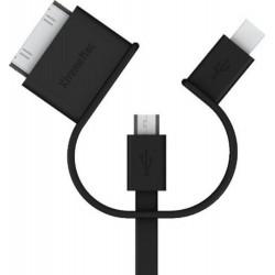 XtremeMac-Cavo cavo 3in1 universale (Mini USB - Micro USB - USB 30 pin)