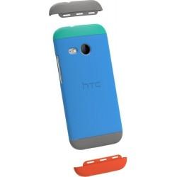 Custodia Flip per HTC One Mini 2 - Azzurro/Grigio/Rosso
