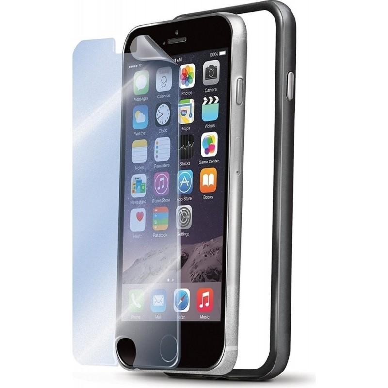 Bumper e pellicola Celly per iPhone 6 Plus - Nero
