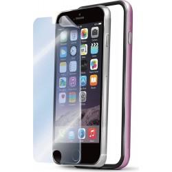 Bumper e pellicola Celly per iPhone 6 - Rosa