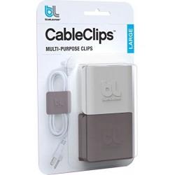 Bluelounge Cable Clip, Soluzione Gestione Cavi (2 Pezzi) - Grigio