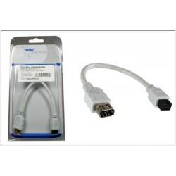 Cavo Firewire (IEEE 1394a) adattatore 20 cm, Connettore 9 Pin a 6 Pin - Bianco
