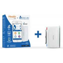 Ihealt + Doc 24 Misuratore di pressione digitale + consulto medico 24 ore