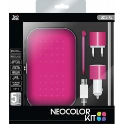 Set di accessori (11 pezzi) Twodots Neocolor per Nintendo 3DS XL - Rosa metallizzato