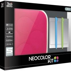 Set di accessori (6 pezzi) Twodots Neocolor per Nintendo 2DS - Rosa