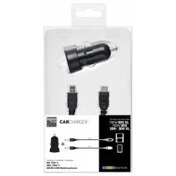 Caricabatterie da auto, compatibile con Nintendo 3DS / 3DS XL / DSI / DSI XL - Nero