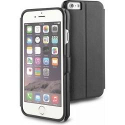 Custodia Flip con finestra Trasparente per Apple iPhone 6 - Nero/Trasparente