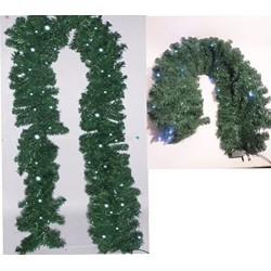 Addobbo natalizio Ghirlanda Cm.270 C/60 Miniluci - Verde