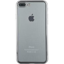 Cover semi rigida trasparente e contorno metallico per IPhone 7 (GRIGIO) GREY