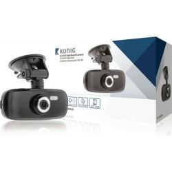 Konig  Dash Cam per auto Full HD con ventosa - nero black